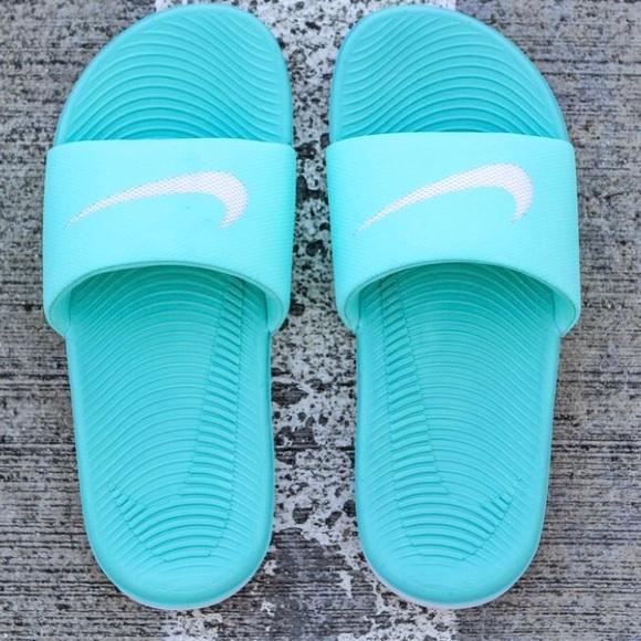 6a36056b96013 Nike Turquoise Kawa Slides. M 5b98bfe99fe48634ade09c24